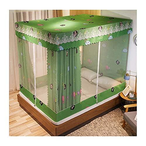 DFJU Redes Mosquiteiras Yurt, Redes Mosquiteiras Zipper, Protetor de Vento Princesa e à Prova de Poeira para Crianças Domésticas, girassol, 180x200cm