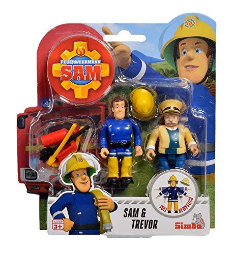 Simba 109251043 - Feuerwehrmann Sam Figuren Doppelpack III / 4-fach Sortierung / 7,5cm / Voll beweglich