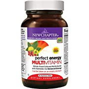 New Chapter Perfect Energy Multivitamin with Vitamin B12 + Vitamin B6 + Vitamin D3 + Organic Non-GMO Ingredients - 96 ct