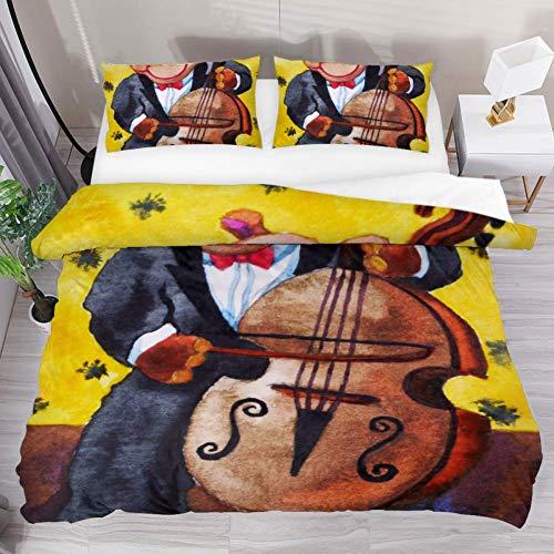 Hippopotamus playing painting bedding