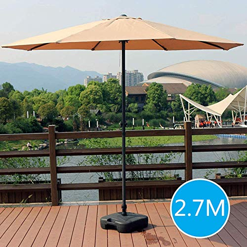 HLLL Parasols Patio Umbrella, Outdoor Table Umbrella with 8 Sturdy Ribs, Base Not Included, Garden Parasol Umbrella, Sun Umbrella for Beach/Pool/Patio,Kaki,3m