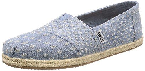 TOMS Damen Klassiker Torn Denim Espadrille Sneakers Schuh-Blau