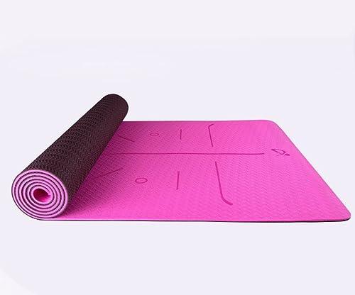 HCJYJD Tapis de Yoga, Tapis de Fitness Anti-dérapant allongé Anti-dérapant Double Face 6mm Widen Thicken (Couleur    2)