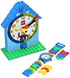 Lego Kids Time Teacher 9005008 Reloj de Cuarzo de plástico Bicolor con Esfera Blanca