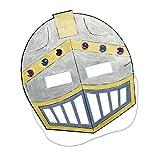 cama24com Ritter Maske im Ritterhelm Design zum ausmalen 12 Stück Ritterparty Palandi®