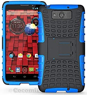 Cocomii Grenade Armor Motorola Droid Maxx/Droid Ultra Case New [Heavy Duty] Premium Tactical Grip Kickstand Shockproof Bumper [Military Defender] Full Body Rugged Cover for Droid Maxx (G.Blue)