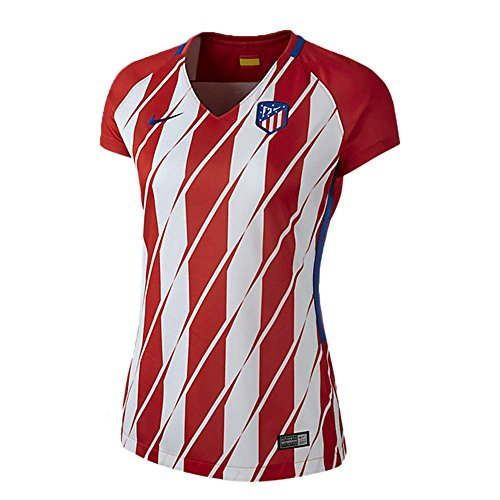 NIKE Camiseta del Atletico de Madrid para Mujer, Temporada 2017/2018, Mujer, 847219-611, Rojo/Blanco, Small