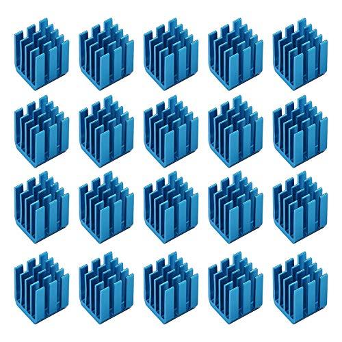 20 Stück 3D Drucker Kühlkörper 9x9x12mm mit Leitkleber für Kühler Kühlkörper Kühlung Schrittmotortreibermodul