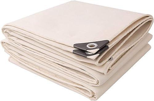 ATR Bache Blanc épaisseur à La Pluie 0.7mm 500g   m \u0026 sup2; Toile d'ombrage Anti-UV Anti-intempéries (Couleur  Blanc, Taille  5  8m)