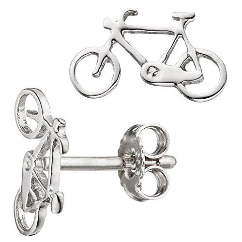 JOBO Kinder-Ohrstecker Fahrrad aus 925 Silber