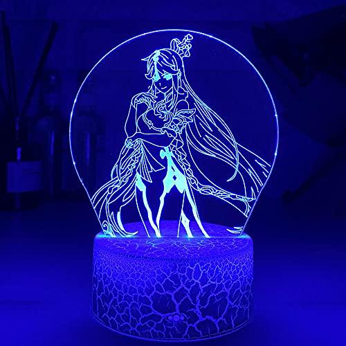 Lámparas de Anime de luz nocturna 3D, luz de figura para niños, niñas, luces de Manga, regalos, luz para el hogar, dormitorio, lámpara de mesa