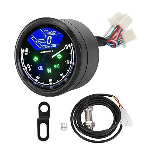 Compteur Moto Digital - Compteur Digital Moto Compteur de vitesse LCD numérique anti-vibration étanche