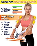Poppin Kicks Arm Machine Workout System with 3 Resistance Training Bands Fitness Equipment for Women...