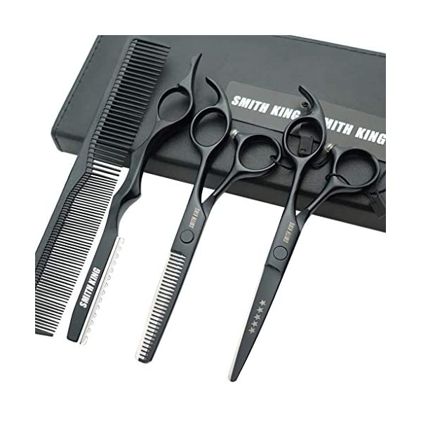 Beauty Shopping 5.5 Inches Hair Cutting Scissors Set with Razor Combs Lether Scissors Case,Hair Cutting