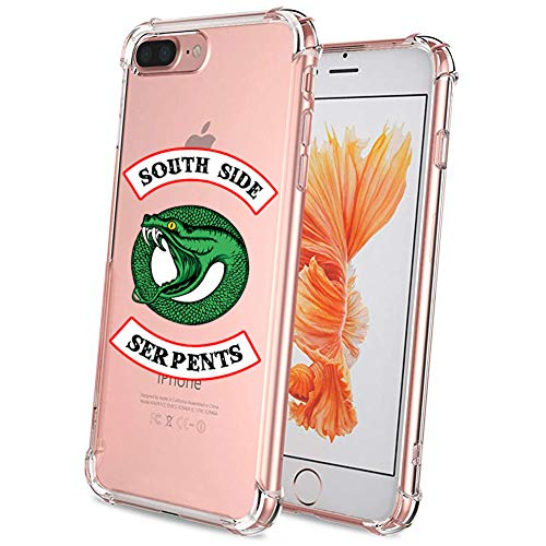 Riverdale Phone Case for iPhone 8 Plus and iPhone 7 Plus, Comdoit Crystal Clear Shock Absorption Technology Bumper Soft TPU Cover Case for iPhone 7 Plus/iPhone 8 Plus 5.5 inch