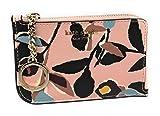 Kate Spade New York Medium L-Zip Card Case Holder Keychain Ring Pink Multi
