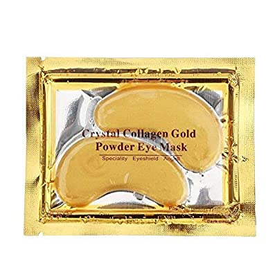 AICHUN BEAUTY 10/20/30/40/100 Pairs Crystal 24K Gold Powder Gel Collagen Eye Mask Sheet Patch Anti Ageing Remove Bags Dark Circles & Puffiness Skincare Anti Wrinkle Moisturising (20) from Aichun Beauty