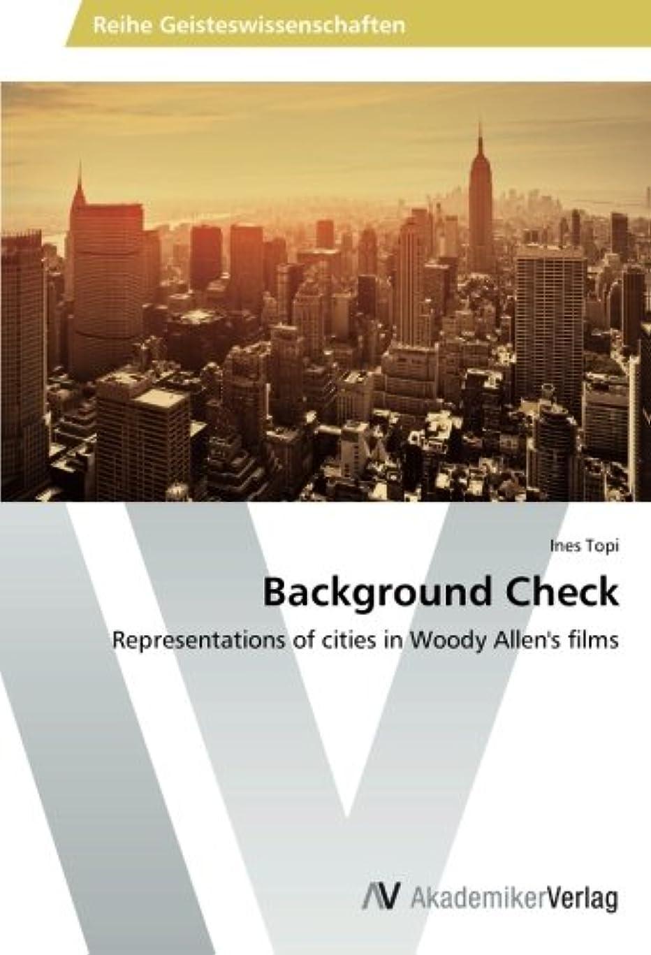 重要なミシン解決Background Check: Representations of cities in Woody Allen's films