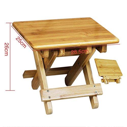 Bases de portátiles ZHANGRONG- Taburete Plegable Bamboo Bench para Niños Portable Outdoor...
