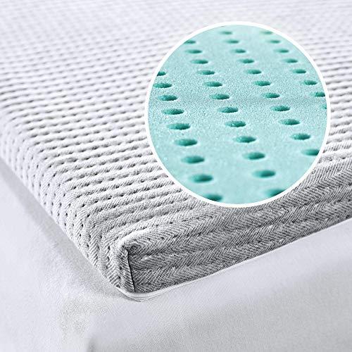 SEVEN SUNDAYS Minnesskum bäddmadrass – 180 x 200 cm – premium madrassöverdrag av viskoskum – 5 cm kärnhöjd – nu madrass, bäddsoffa och mycket mer uppgradera – original handarbete från Schweiz