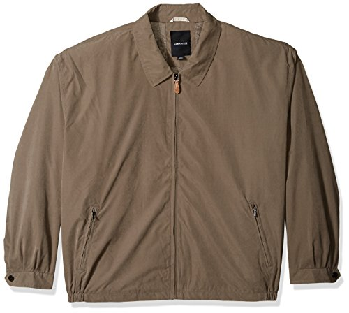 London Fog Men's Auburn Zip-Front Golf Jacket (Regular & Big-Tall Sizes), Olive, Medium