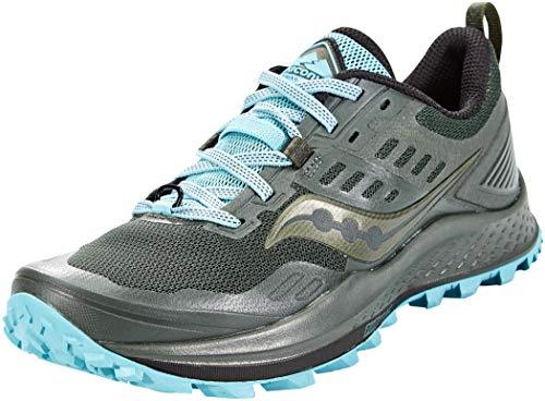 Saucony Women's S10556-25 Peregrine 10 Running Shoe, Pine/Marine - 8 M US