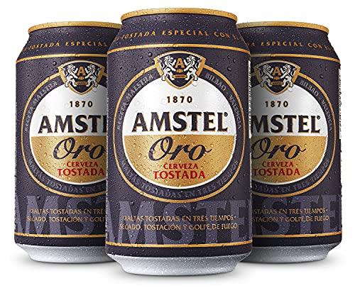 Amstel Oro Cerveza - Caja de 24 Latas x 330 ml - Total:...