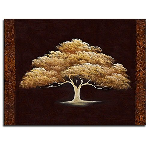 Golden Luky Tree Canvas Paintings Wall Art Landscape Fantasy Canvas Paintings Wall Art Landscape Modern Oil Painting Effect On Canvas Paintings Ready to Hanging 24x16 inch