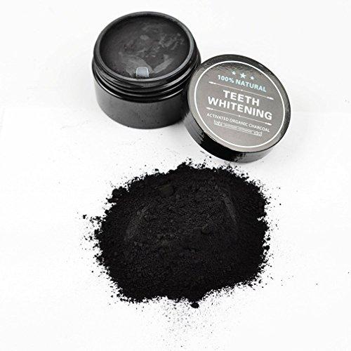 Los dientes que blanquean el polvo de carbón de leña orgánico activado blanqueador consolidan el esmalte