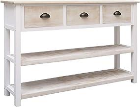 vidaXL Solid Paulownia and Poplar Wood Sideboard Side Cabinet End Console Table Bedroom Hallway Living Room Furniture Natu...
