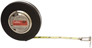 "Crescent Lufkin 3/8"" x 50' Banner Engineer's Yellow Clad Tape Measure - HW223D"
