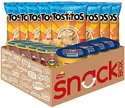 Tostitos Variety Pack Bite Sized Rounds Salsa Cups and Nacho Cheese Dip Cups Chip and Dip Pack product image
