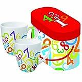 Paperproducts Design Digits - Taza (porcelana, 2 unidades), diseño de dígitos