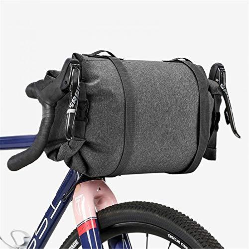 GOLDGOD Bolsa De Almacenamiento Frontal para Ciclismo Gran Capacidad, Reflectante Ciclismo Montaña Bicicleta Carretera Manillar Bicicleta 5L Marco Tubo Superior Alforjas Enrollable