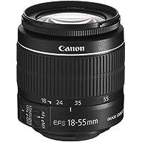 Canon EF-S 18-55mm f/3.5-5.6 IS II - Objetivo para Canon (Distancia Focal 18-55mm, Apertura f/3.5-38, Zoom óptico 3X,estabilizador óptico, diámetro: 58mm) Negro