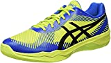 ASICS Volley Elite FF, Chaussures de Volleyball Homme, Vert (Energy Green/Directoire Blue/Black 7743), 42 EU