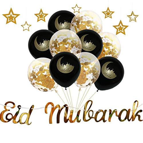 Ramadan Ballonnen, slinger, versieringen met pailletten, voor thuisfeest, bruiloftsdecoratie
