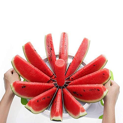 Bloomma Wassermelonenschneider Edelstahl Fruchtmelonenschneider Cutter Cantaloupe Ananas Zitrone Orange Brotschneidemaschine Fit Home
