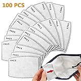 50 PCS PM2.5 filtro de carbón activado protector de 5 capas reemplazable, papel de filtro externo antivaho, antibacteriano, a prueba de polvo, filtro de máscara