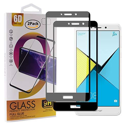 Guran [2 Stück Gehärtetes Glas Displayschutzfolie für Honor 6X / Honor 6X Pro Smartphone Full Coverage HD Schutzfolie Film Kompatibel Panzerglasfolie - Schwarz