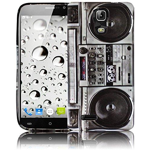 thematys Passend für Cubot Note S/Cubot Dinosaur Ghettoblaster Silikon Schutz-Hülle weiche Tasche Cover Case Bumper Etui Flip Smartphone Handy Schutzhülle Handyhülle
