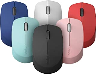 Rapoo M100 Silent Multi-Mode Wireless Mouse (Pink) -Works with Mac
