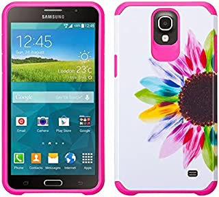 Galaxy Mega 2 Case, Samsung Galaxy Mega 2 [Shock / Impact Resistant] Hybrid Dual Layer Armor Defender Protective Case Cover for Galaxy Mega 2, (Sun Flower)
