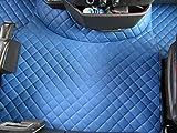 TEXMAR - Alfombrillas para Volvo FH4 AUTOMAT a Partir de 2014, Conductor en Lado Izquierdo, Piel ecológica de Color Azul
