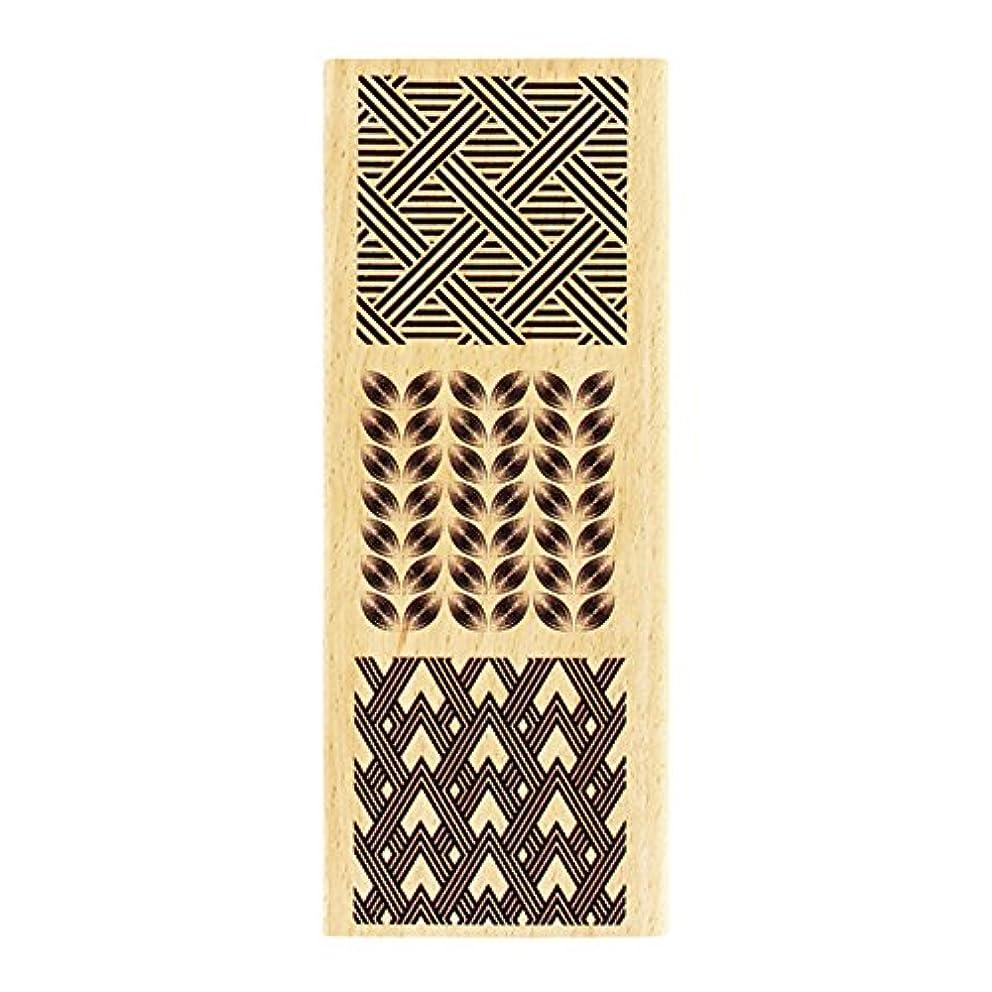 Florilèges Design fg216071?Stamp Decorative Wood Three Square Wood 15?x 6?x 2.5?cm amusixylo9