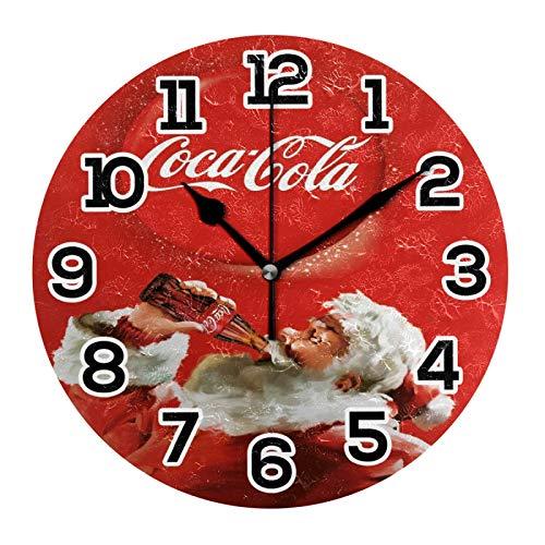 Coca Cola Orologio da Parete in Acrilico Decorativo Rotondo a Batteria Orologi Da Parete per Casa Camera Da Letto Soggiorno Decor Silenzioso Non ticchettio