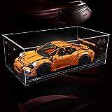 DXX Acrilico Vetrina Acrylic Display Case Scatola di Acrilico Trasparente per Lego Technic 42056 Porsche 911 GT3 RS (Nessun Modello)