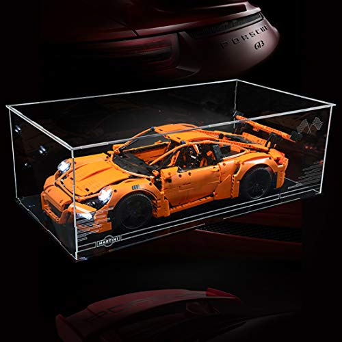 POXL Display Case Vitrine Für Lego Porsche 911 GT3 RS 42056 - Display Box Acryl Schaukasten (NUR Display Box)