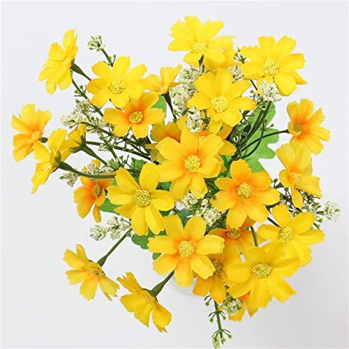 Bayue bos bloemenboeket 7 richtingen 28 koppen zijde, schattig, kunstzinnig decoratief, boeket voor bruiloft B1