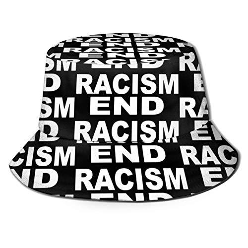 GYHJH Ende Rassismus Unisex Print Eimer Hut Summer Beach Sonnenschutzhut Outdoor Cap